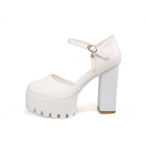 Femme 5 ASL05310 BalaMasa Blanc Compensées Blanc 36 EU Sandales 1POqtpxw