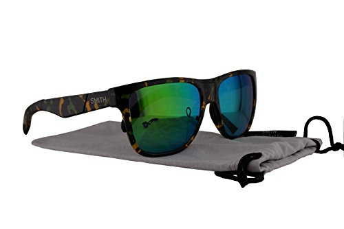 Smith Lowdown Sunglasses Flecked Green Tortoise w/Green Sol-X Lens - Low Sunglasses Costa Light
