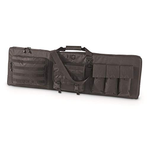 HQ ISSUE Tactical 2 Gun Case with Shooting Mat and 6 Mag Pockets, 44