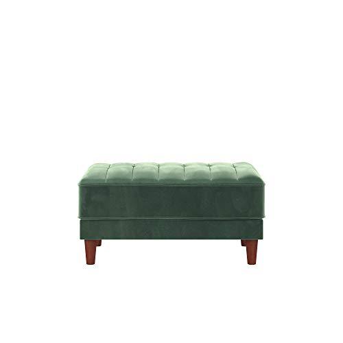 DHP DZ60715 Ivana Ottoman, Light Green Velvet