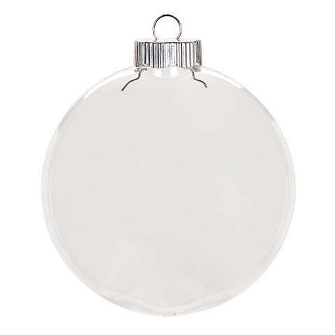Darice Clear Plastic Christmas Ornament - Disc - 100mm