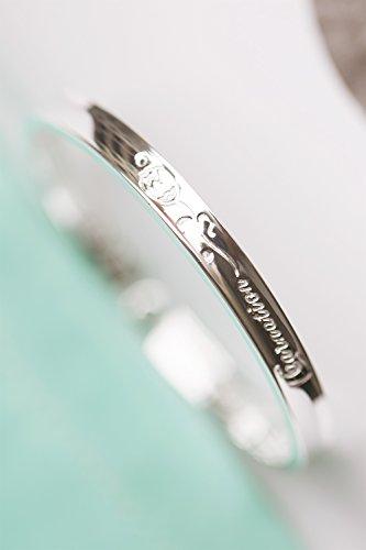 Generic 999-foot_ silver _rose_concave_ bracelet bangle