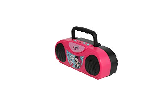 Sakar L.O.L. Surprise KO1-03136 Kids Karaoke Machine with Radio, Portable Fm/Am Radio, Corded Microphone, Durable Handle Allows for Easy Transport, Surprise Stickers, Pink by Sakar (Image #2)