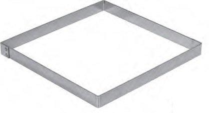 FaisTonGateau Backform, Edelstahl, quadratisch, 20 x 20 cm, eckig, Edelstahl