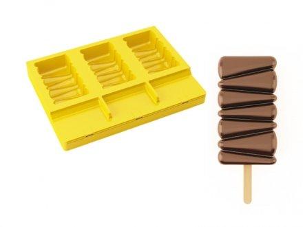 Pavoni Pavogel Silicone Ice Cream Stick Mold - Maracaibo - 3 Cavity