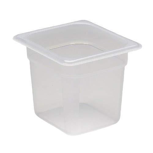 Cambro 66PP190 1/6 Size Polypropylene Food Pans, Translucent (6/Case)