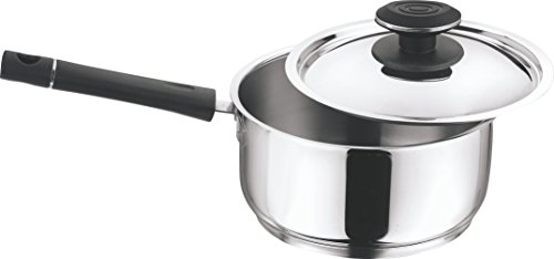 Vinod Cookware 202 Tivoli Saucepan With Lid, 2-Pieces Silver 20Cm
