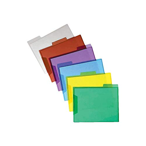 (Staples Translucent Poly File Folders, Assorted, 6/Pack)