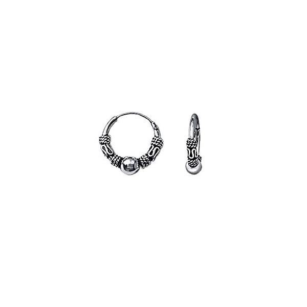 NKlaus Coppia NKlaus Orecchini in argento 925 Orecchini in argento sterling creoli celtici Gotico Celtic Ear Piercing 12mm 5038