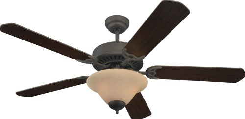 Sea Gull Lighting 15161B-191, Quality Pro Delux Roman Bronze 52 Ceiling Fan with Light