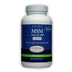 Enzymatic Therapy Msm With Gs-500 - 180 Veg capsules, 2 Pack
