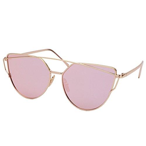 Lunettes Lunettes de soleil polarisées lunettes de soleil anti-UV unisexe ( couleur : Peach-pink ) nq7YayUT0m