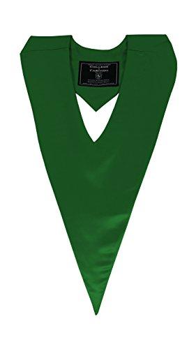 Graduation V-Stole, emerald-green