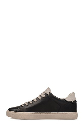 Crime London Homme 11209KS120 Noir Cuir Baskets Montantes