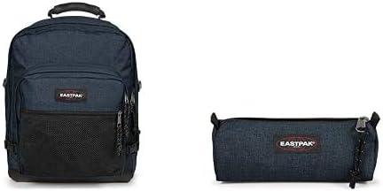 EASTPAK Ultimate Mochila, 42 cm, 42 L, Azul (Triple Denim) + Benchmark Single Estuche, 21 cm, Azul (Triple Denim): Amazon.es: Equipaje