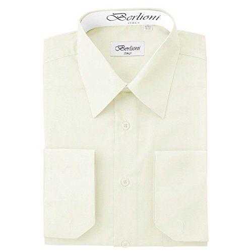 ivory dress shirt with french cuffs - 5