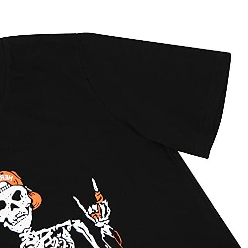 Women Halloween Shirt OMG Im Like Literally Dead Letter Printed T Shirt Funny Skeleton Graphic Tee Tops