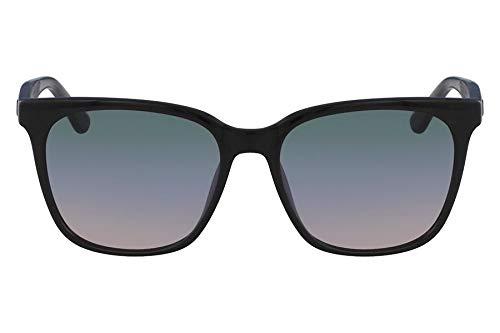 Óculos Lacoste L861S 001 Preto Fosco Cinza Estampado Lente Cinza Flash Tam 55