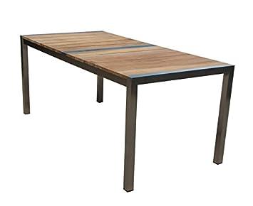 Amazon De Greemotion 129160 Gartentisch San Diego Aus Teak Holz