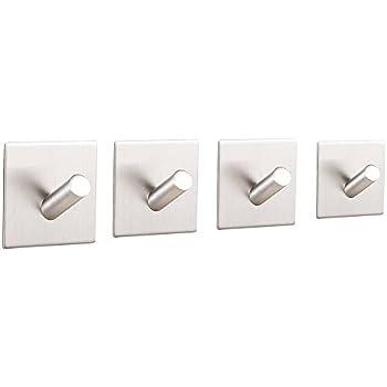 Sumnacon 3M Self Adhesive Bath Hooks   Stainless Steel Bathroom Towel Hook,  3M Stick Wall