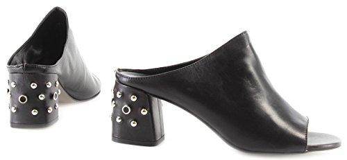 Selene Sabot Sl02 Skinn Rebecca Studs Minkoff Kvinners Rmsusl Sandal Svart Sko 0IOUIxH