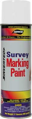 Survey Marking - Aervoe 207 White Survey Marking Paint - 20-oz Cans (17-oz net weight) - 12 Can Case