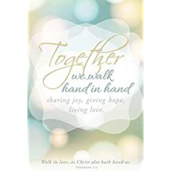 Bulletin - Wedding - Together We Walk Hand In Hand (Pack Of 100)