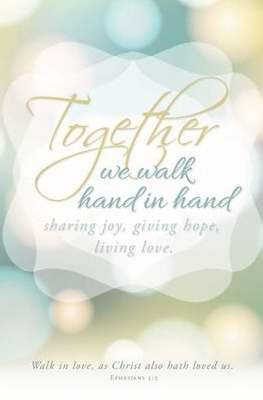 Bulletin - Wedding - Together We Walk Hand In Hand (Pack Of 100)]()