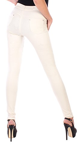 Black Denim - Pantalón - skinny - para mujer beige S/36
