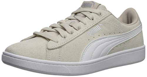 (PUMA Women's Vikky Sneaker, Silver Gray White, 8 M US)