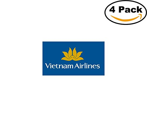 vietnam airlines 4 Stickers 4x4 Inches Car Bumper Window Sticker Decal