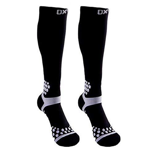 - Compression Socks Men & Women -Best Recovery Performance Stockings(20-30mmHg) for Running,Athletic,Pregnancy,Varicose Veins,Medical,Travel,Shin Splints(White dot, L/XL)