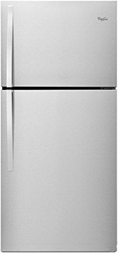 (WHIRLPOOL REFRIGERATORS 2476879 19 cu.ft. Top-Freezer Refrigerator, Universal Silver, Reversible Door)