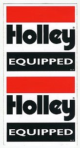 Holley 36-28 Decal - Holly Equipped - Holley Cylinder Heads