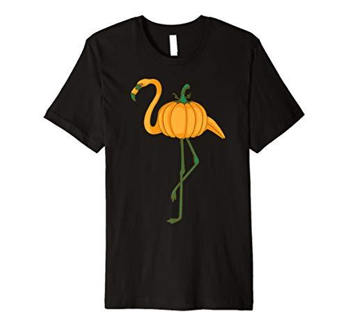 Flamingoween Shirt | Cool Halloween Flamingo Bird Lover Gift Premium T-Shirt
