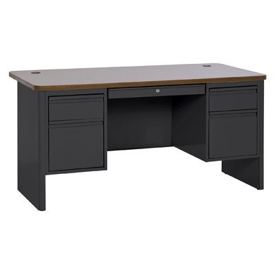 Sandusky Lee DP706030-BO 700 Series Double Pedestal Heavy Duty Teachers Desk, 30