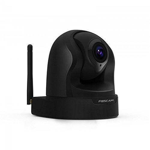 Camera 1.3 Pixel - Foscam FI9826PB Plug and Play, 1.3 Megapixel, 1280 x 960 Pixels, 3x Optical Zoom H.264, Pan/Tilt Wireless IP Camera (Black)