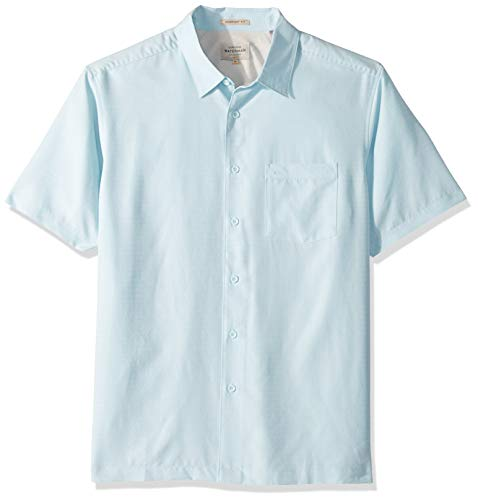 Quiksilver Waterman Men's Centinela 4 Button Down Shirt, Crystal Blue -