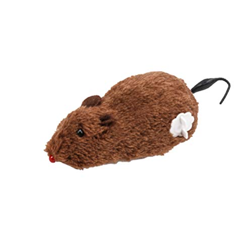 Amosfun Plush Mouse Cat Toy Wind Up Rat Toy for Kids Children Adults Pet Interactive Play (Random Color)