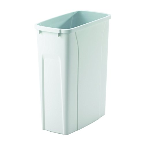 Knape & Vogt QT20PB-WH Replacement Trash Can, 16-Inch by 14.25-Inch by 7.25-Inch (Recycle Narrow Bin)