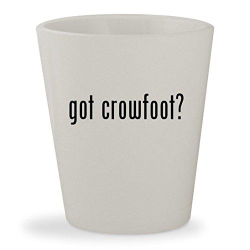 got crowfoot? - White Ceramic 1.5oz Shot Glass