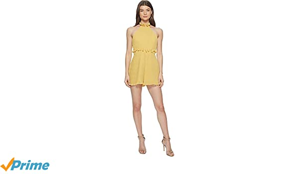 0b5a9986a2f Amazon.com  Keepsake The Label Women s Skylines Playsuit Golden Yellow  Large  Clothing