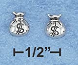.925 Sterling Silver Money Bags Earrings by SilverChicks