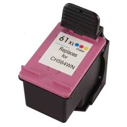 Ink Now! Compatible Cartridge for HP Deskjet 1000, 1050, 2050, 3000, 3050 - HY Color CH564WN (No. 61XL Color) - Hp Deskjet 1000 Printer Cartridge