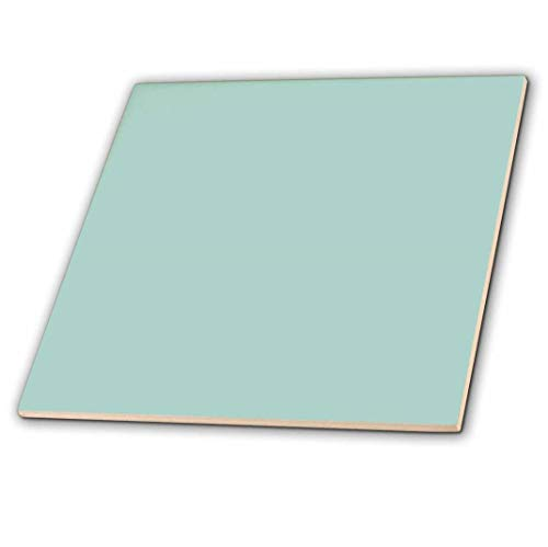 3dRose ct_159844_2 Plain Mint Blue Solid Color Light Turquoise-Grey-Gray Modern Contemporary Simple Pastel Teal Ceramic Tile, 6
