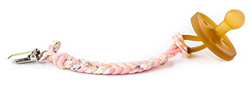 Madelines Box Original Softy Braided Pacifier Clip, Hand-Made in USA, Universal - Keep Any Pacifier, Teether, Or Toy Off The Dirty Ground, Perfect Length 8, Stylish and Sturdy (Softy Lilly)