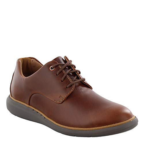 CLARKS Men's Un VoyagePlain Oxford, Mahogany Leather, 080 M ()