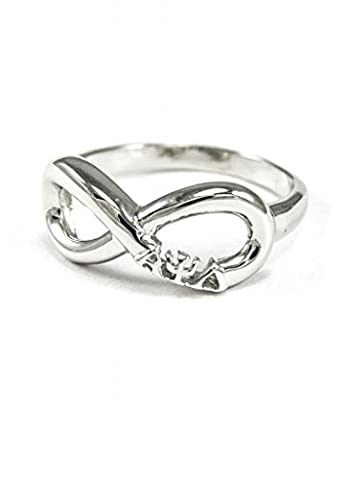 Alpha Phi Lambda Sterling Silver Infinity Ring size 9