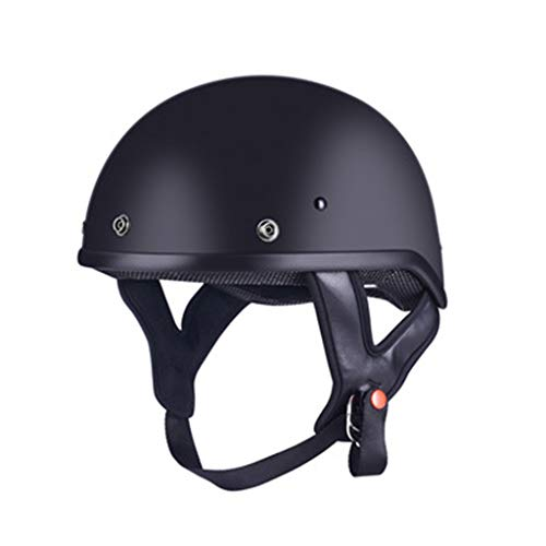 SMC Casco Retro Scooter eléctrico Hombres y Mujeres Medio Casco Medio Cubierto Four Seasons Casco Ligero Blanco Negro (Color...