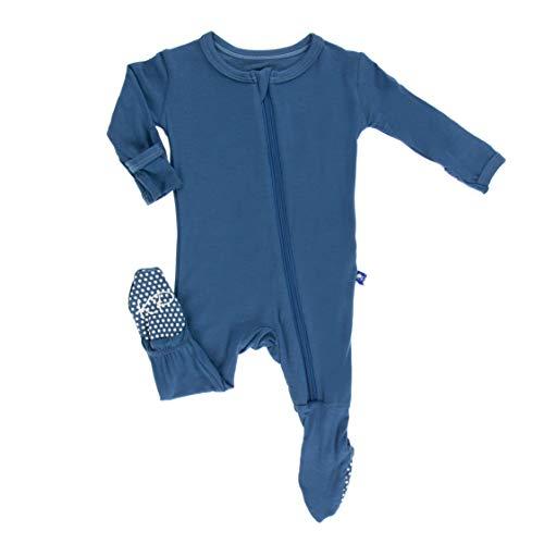Kickee Pants Basic Pants - KicKee Pants Little Boys Basic Footie with Zipper - Twilight, 3 - 6 Months